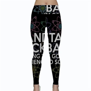 STAND BACK I'M GOING TO DO SCIENCE Yoga Leggings