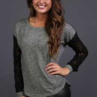Lace + Gray Knit | The Rage