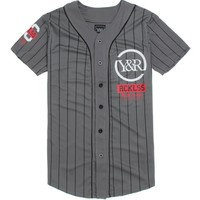 Young & Reckless Strike Out Jersey - Mens Tee - Black