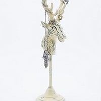 Stag Head Metal Jewellery Stand in White - Urban Outfitters