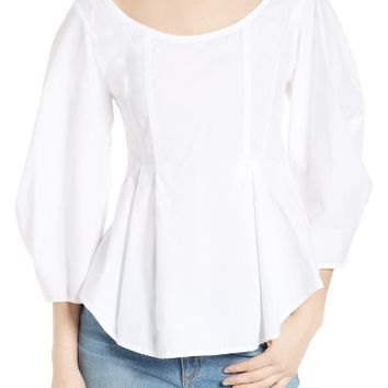Sea Cotton Lantern Sleeve Blouse | Nordstrom