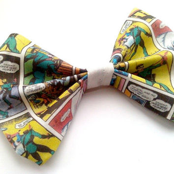 Green Arrow Superhero Comic Hair Bow- Geekery