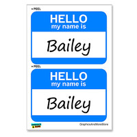 Bailey Hello My Name Is - Sheet of 2 Stickers