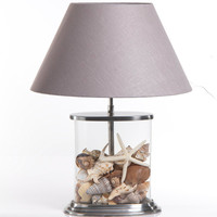 Oval Clear Glass Table Lamp