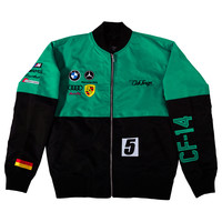 Club Foreign 2T German Race Jacket Green Black