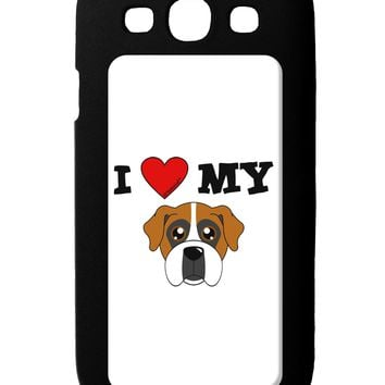 I Heart My - Cute Boxer Dog Galaxy S3 Case  by TooLoud