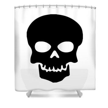 CREYM83 Skull - Shower Curtain