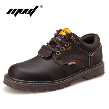 Genuine Leather Men boots Classic Ankle work Boots Nubuck leather Men Winter Boots Autumn boots