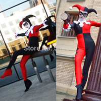 halloween costumes women casual jumpsuits Thigh High clown Batman Arkham Asylum Harley Quinn Cosplay Carnival sexy Costumes