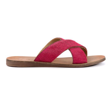 Sacha Hairy slippers - roze