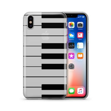 The Piano Keyboard - Clear TPU Case Cover Phone Case