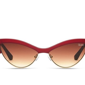 Quay All Night Red Sunglasses / Brown Lenses