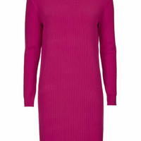 **Turtle Neck Dress by Marques'Almeida X Topshop - Bright Pink