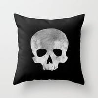 skull Moon Throw Pillow by Msimioni | Society6