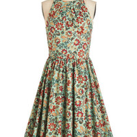 ModCloth Long Sleeveless A-line Pros and Congrats Dress in Mint