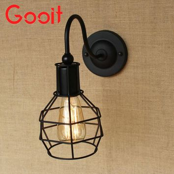 American industry wall lamps Nostalgic Vintage Iron Loft Aisle Wall Lamp For Balcony