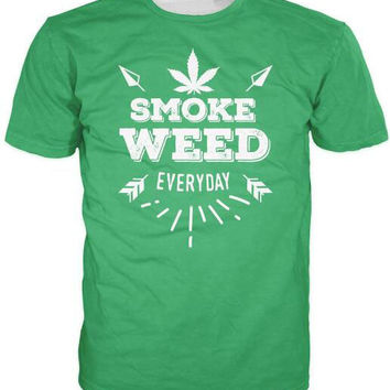 Fashion Clothing Weed Everyday T-Shirt Unisex 3D Print Casual Shirt Green Black Color Tees Women/Men  Tops tshirts