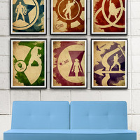 Avengers Minimalist Movie Poster Set / Captain America, Iron Man, Thor, Hulk, Black Widow, Hawkeye