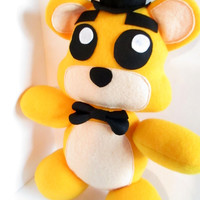 Not For Christmas! Golden Freddy Plush Inspired by FNAF Five Nights at Freddy's