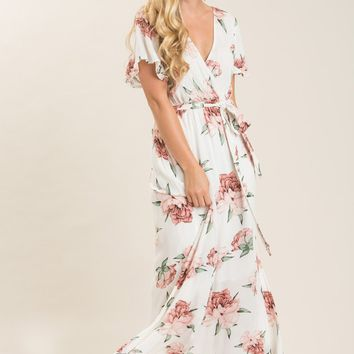 Bethany White Floral Maxi Dress