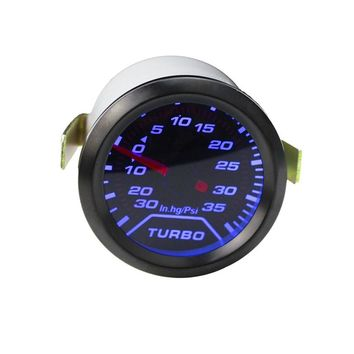 "free shipping 2"" 52mm Turbo Boost Gauge PSI Smoke Dial blue LED Light Interior Dash Auto Gauge Car Meter tachometer YC100179"