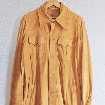 Vintage Hand Cut  Suede Chamois Jacket