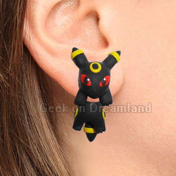 Umbreon Pokemon Handmade Clinging  Earrings