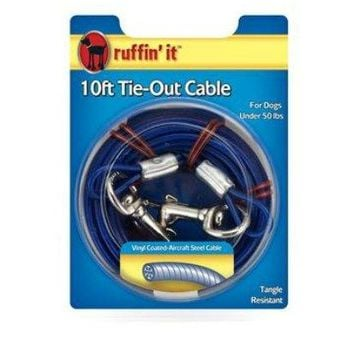 Ruffin' It 29110 Tie-Out Cable for Dogs, 10'