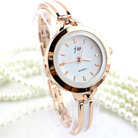 Womens Girls Casual Alloy Strap Watch