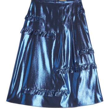 Silk Metallic Skirt - Burberry | WOMEN | KR STYLEBOP.COM