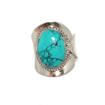 Adjustable Ring  Tibetan Ring Turquoise ring Boho Ring