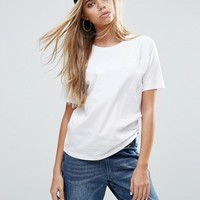 ASOS Boyfriend T-Shirt with Wide Sleeve at asos.com