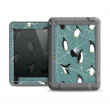The Vintage Penguin Blue Collage Apple iPad Air LifeProof Fre Case Skin Set