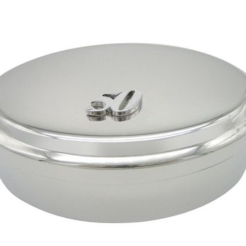 Silver Toned 50 Years Pendant Oval Trinket Jewelry Box