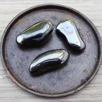 HEMATITE XXL Grounding Stone, Draw Out Negative Energy, Polished Iron Ore