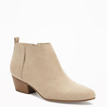 Sueded Ankle Boots for Women   Old Navy