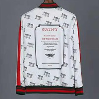 GUCCI 2018 early autumn casual men's round neck sports outdoor jacket