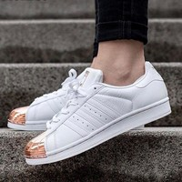 Adidas Superstar (Shelltoes) Rose Gold Women Sneakers Casual Sport Shoes