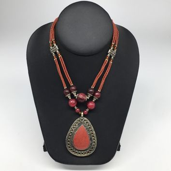 Turkmen Necklace Afghan Antique Tribal Fashion Multi Strand Beaded Necklace S130
