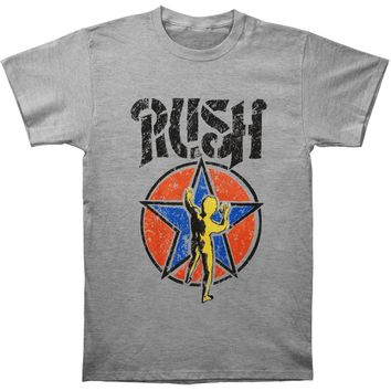 Rush Men's  Stencil Starman Tee T-shirt Grey