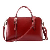 British Style Solid Color Handbag Shoulder Messenger Bag