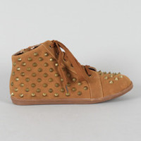 Studded Spike Lace Up Sneaker (Small/Indie Brands)