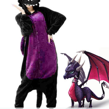 New Pretty Skylander Cynder the Dragon - Spyro Adult Kigurumi Onesuit KK286