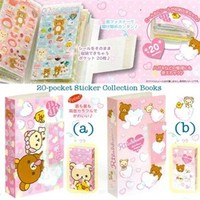 San-X Rilakkuma Bubble Bath Sticker File Book