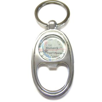 Bismarck North Dakota Map Bottle Opener Key Chain