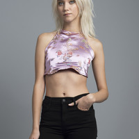 Lotus Pink Halter Top
