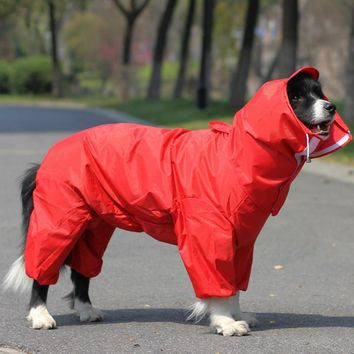 Pet Large Dog Raincoat Clothes For Small Dogs Outdoor Coat Waterpoof Teddy Dog Pet Rain Jacket For Big Dog Rain Clothing
