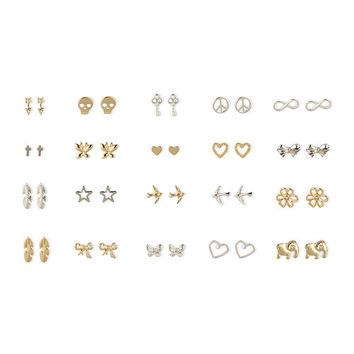 Gold And Silver Festival Of Dreams Stud Earrings Set 20