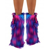 Blended Turquoise Purple Hot Pink Fluffies