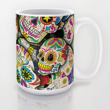 Sugar Skull Collage Mug by Spooky Dooky | Society6
